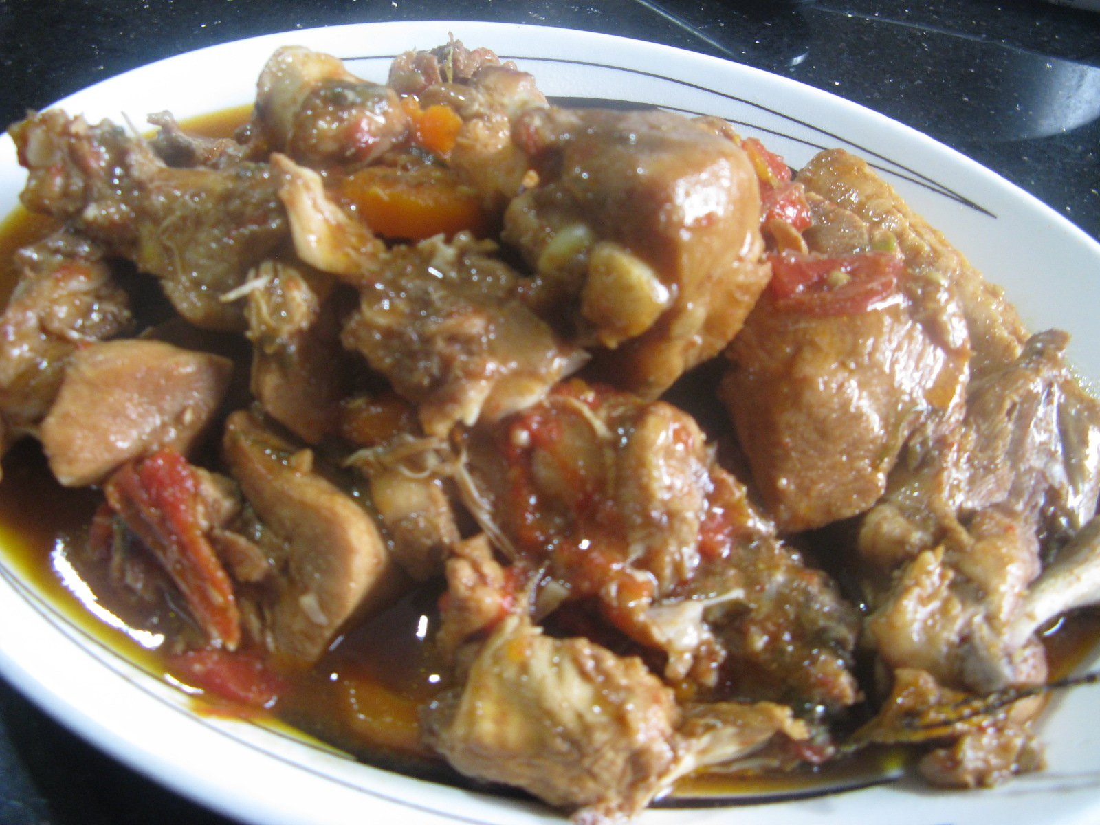 Jamaican Brown Stew Chicken jamaican brown stew chicken my jamaican ...